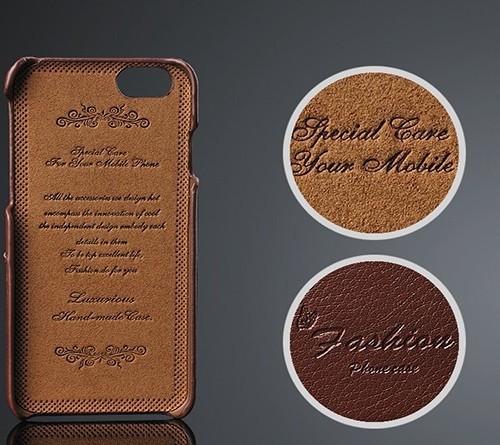Kožený obal na kreditky na iphone 6