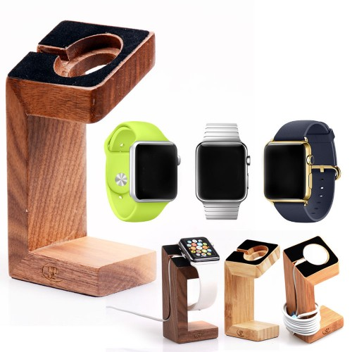 Drevený stojan dock na apple watch www.luxur.sk