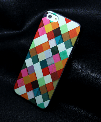 Obal na iphone 5 : 5s - farebné dlaždice www.luxur.sk