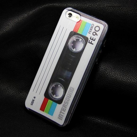 Obal na iphone 5 : 5s retro kazeta www.luxur.sk