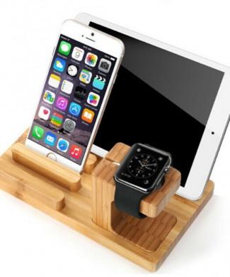 Drevený bambusový stojan pre apple watch www.luxur.sk poštovné zadarmo
