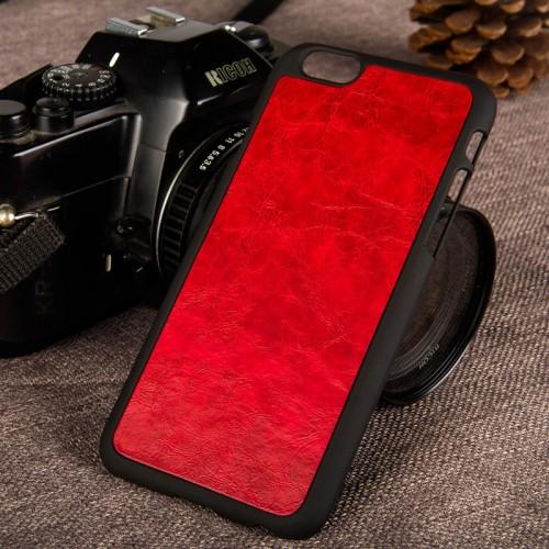 Kožený obal na iphone 6 a iphone 6s s plastom www.luxur.sk