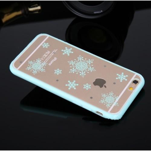 Obal pre iPhone 6 s kvietkovanym vzorom a priesvitnou zadnou stenou frr