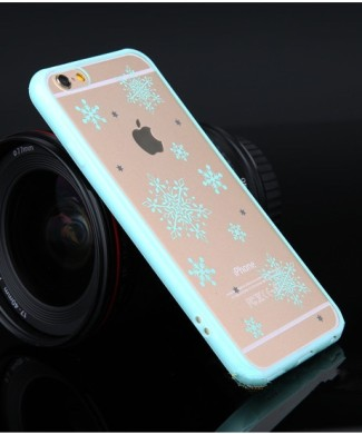 Obal pre iPhone 6 s kvietkovanym vzorom a priesvitnou zadnou stenou s