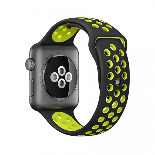 apple-watch-naramok-gumeny-zeleno-cierny