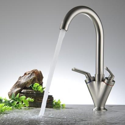 Free-Shipping-Kitchen-faucet-Dual-handle-single-hole-Basin-Water-faucet-Bathroom-mixer-washbasin-taps-BR