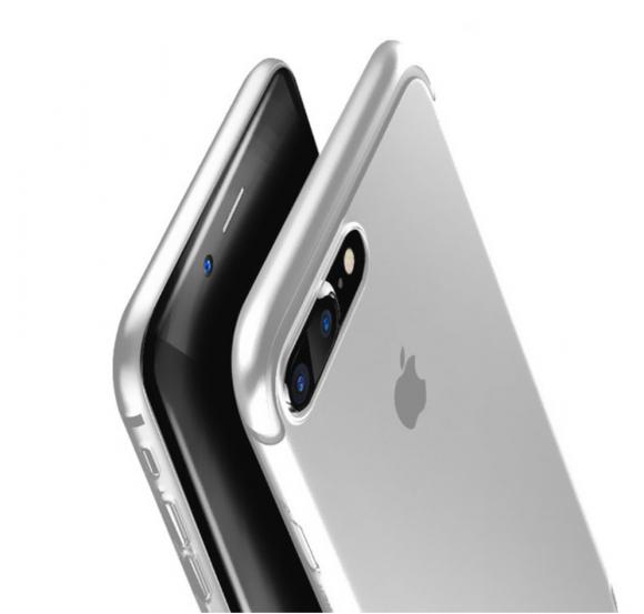 Obal na iPhone 7 a 7 plus Baseus Silver