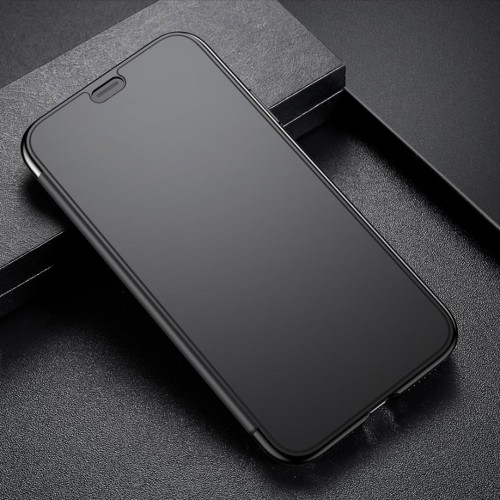Flipovy obal pre iPhone X s unikatnou vlastnostou - Black