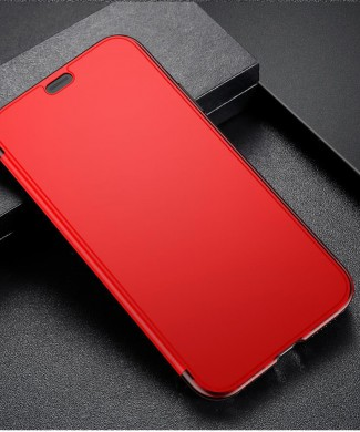 Flipovy obal pre iPhone X s unikatnou vlastnostou - Red