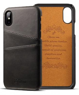 Kožený Obal na iPhone X-Black