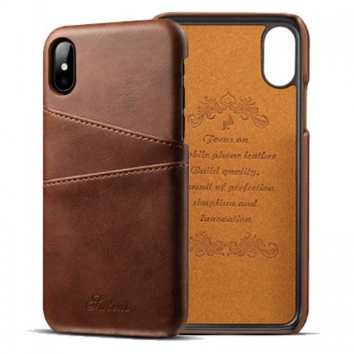 Kožený Obal na iPhone X-Brown