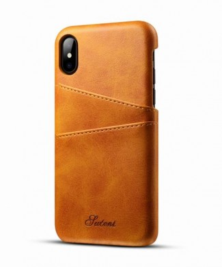 Kožený Obal na iPhone X-Orange