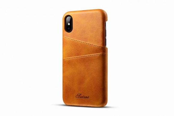 Kožený Obal na iPhone X-Orange