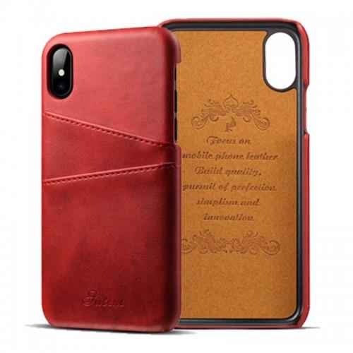 Kožený Obal na iPhone X-Red