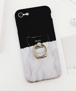 Obal pre iPhone z ocelovym prstenom - Sloboda