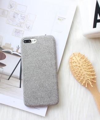 Sivý látkový obal na iPhone 8 a 8 Plus